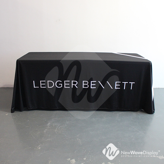 Full drape table cloth