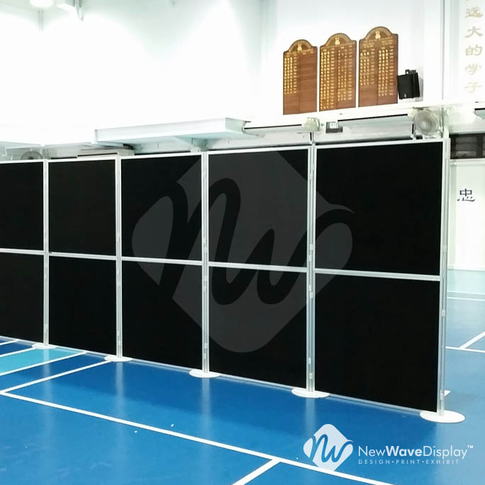 rent clip and pole panel system