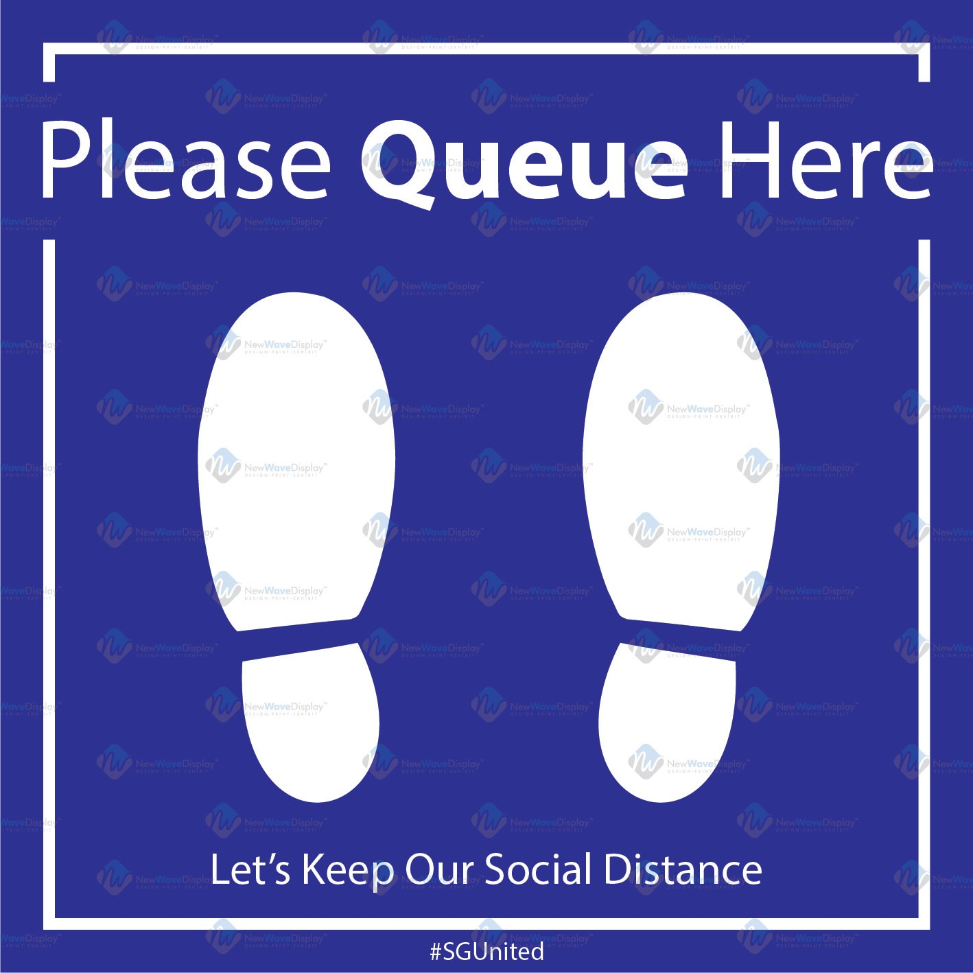 Social Distance Floor Sticker