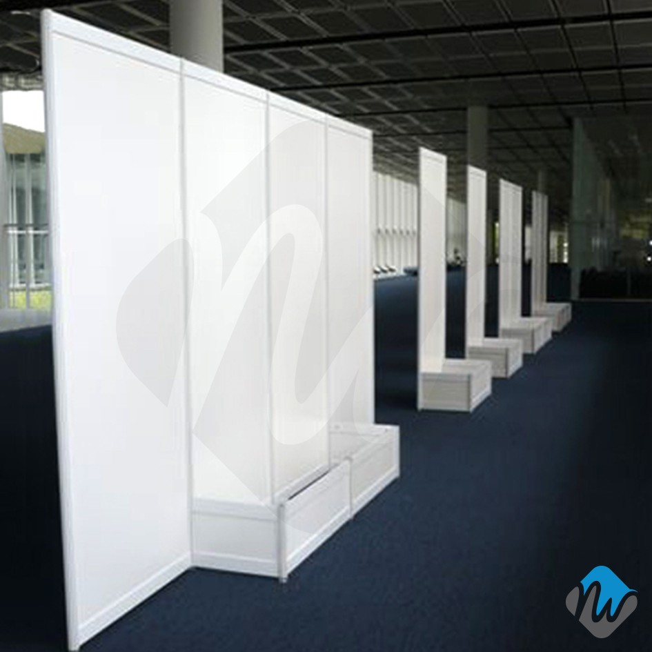 D Exhibition : R exhibition panel system poster