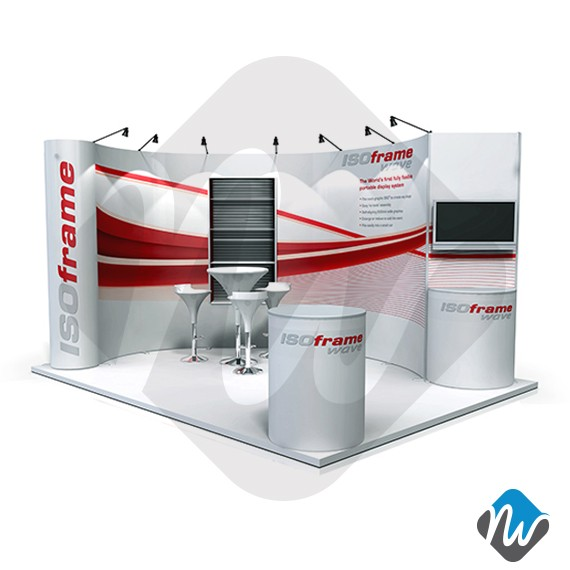 Exhibition Booth Rental Singapore : Isoframe wave booth design exhibition display product