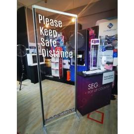 ISOframe Wave Floor Standing Shield