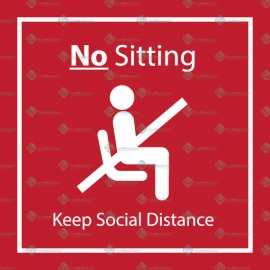 Social Distance Sticker