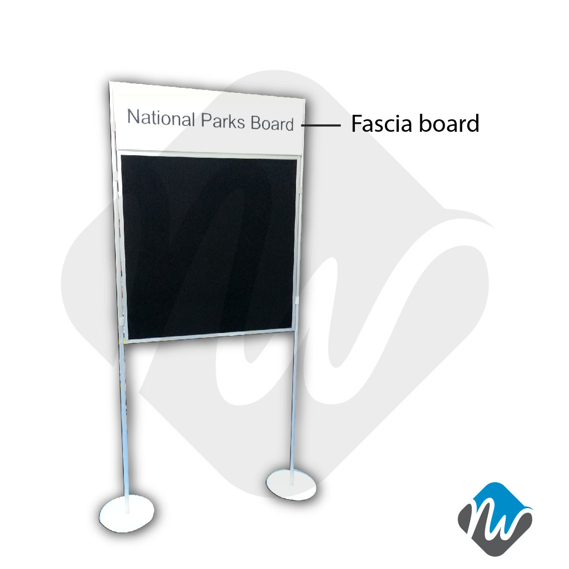 Fascia Board Exhibition Booth : Clip and pole panel system