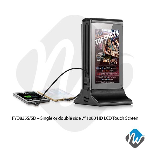 Table Top Power Bank Advertising Player Digital Display
