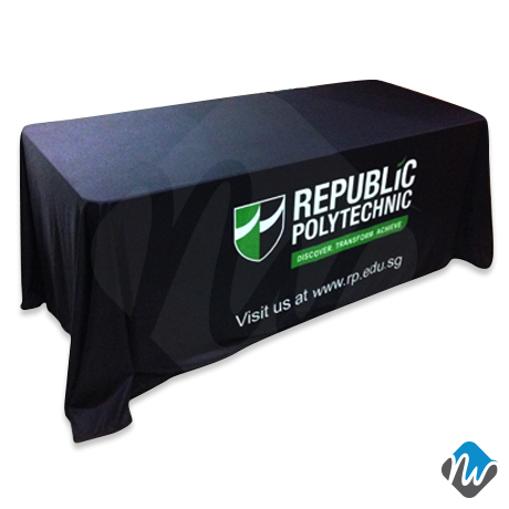 More Views  sc 1 st  New Wave Display & Full Drape Table Cloth - Custom Designed Tradeshow Booth Table ...